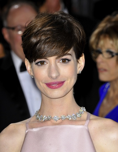 Anne Hathaway's Oscar Makeup