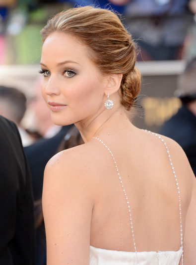 Jennifer Lawrence's Oscar Hair