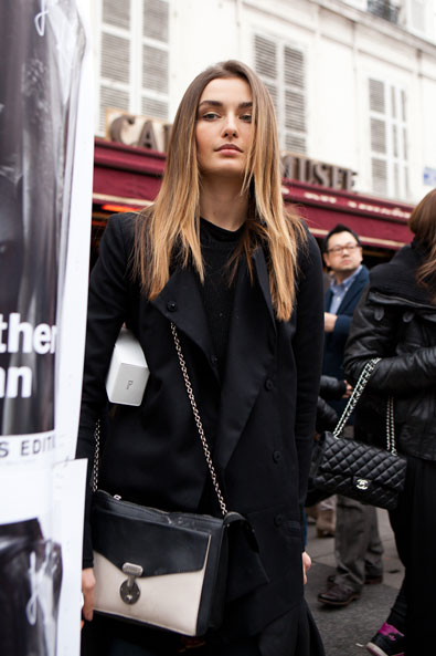 After Christian Dior show, outside Musee Rodin