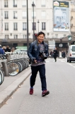 Tommy Ton on the run outside the Haider Ackermann show