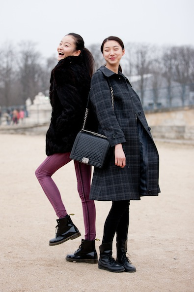 Girls leaving the Tuileries
