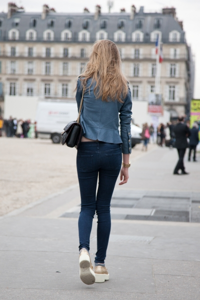 Denim casual in Paris