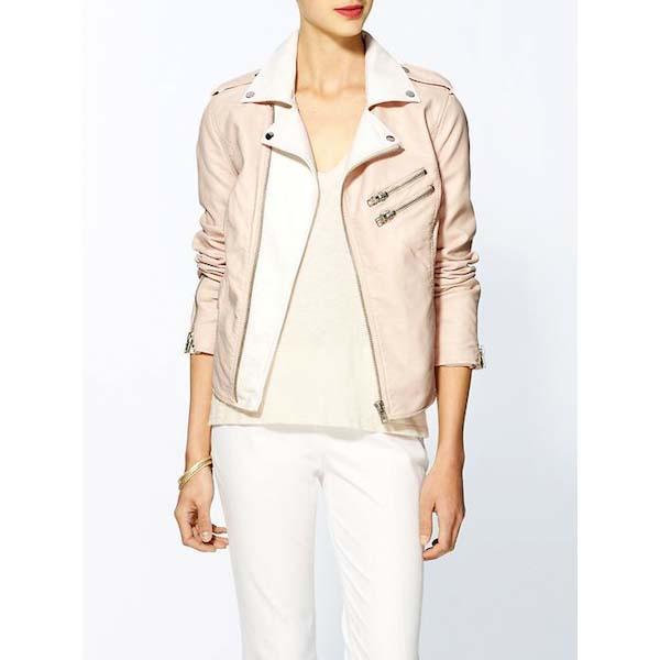 RD Style Pastel Leather Moto Jacket