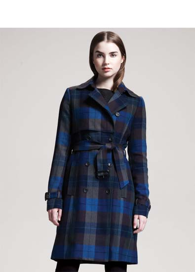 The Plaid Trench