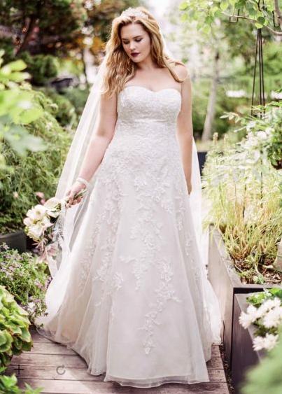 Gorgeous Plus-Size Wedding Dresses - theFashionSpot