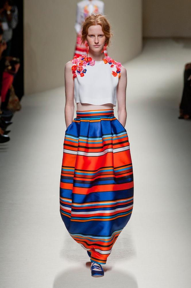 Stripes at Alberta Ferretti