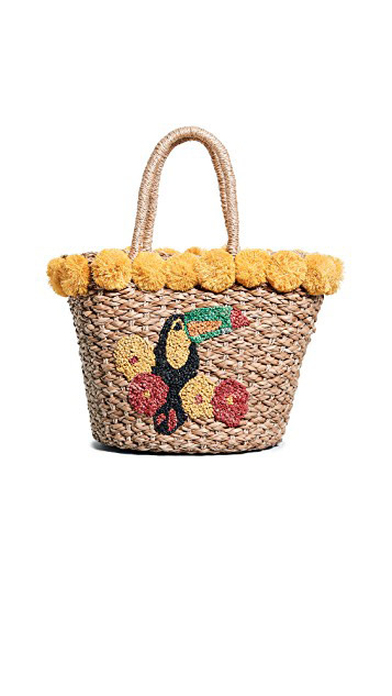 Serpui Marie  Raffia and Straw Basket Bags Are the Surprising City Essential for Spring 2018 serpui marie fany tucan straw basket