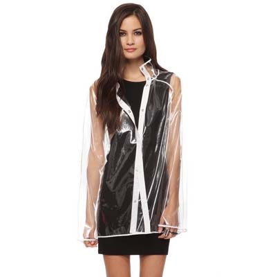 Forever 21 Clear Rain Coat