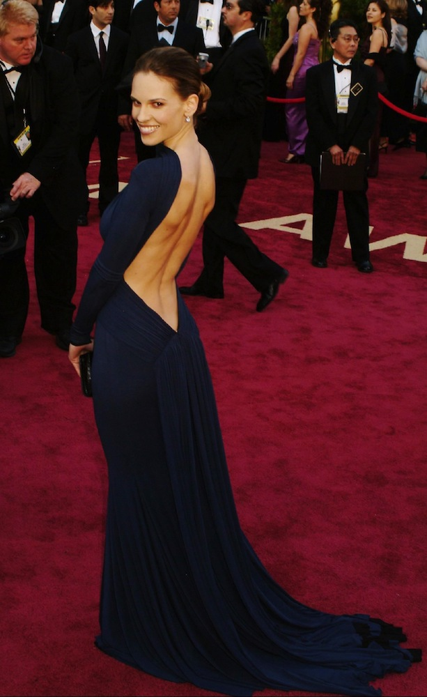 2005: Hilary Swank in Guy Laroche