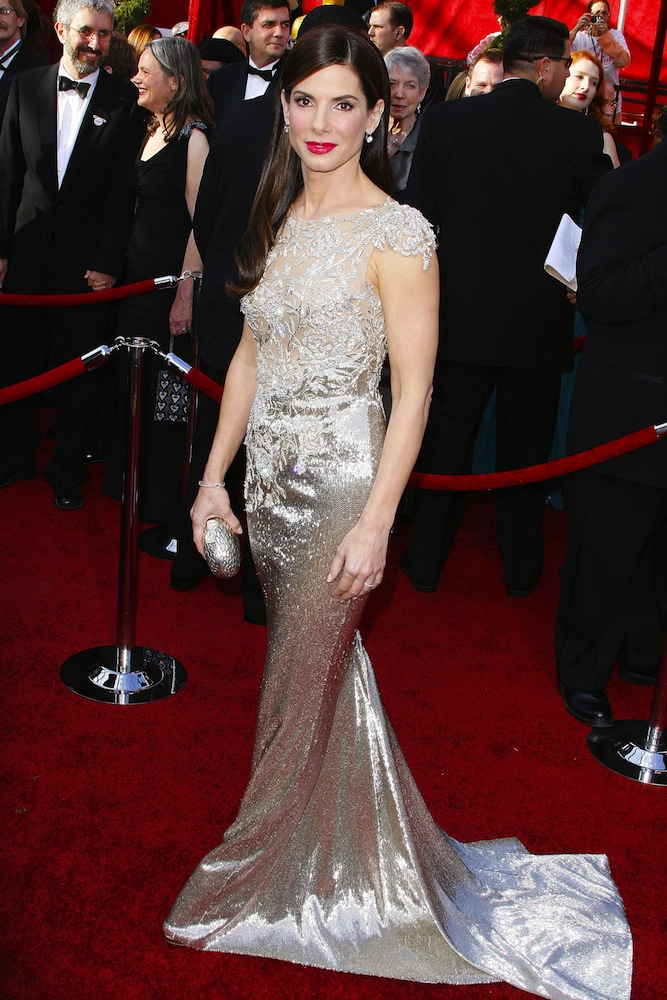 2010: Sandra Bullock in Marchesa