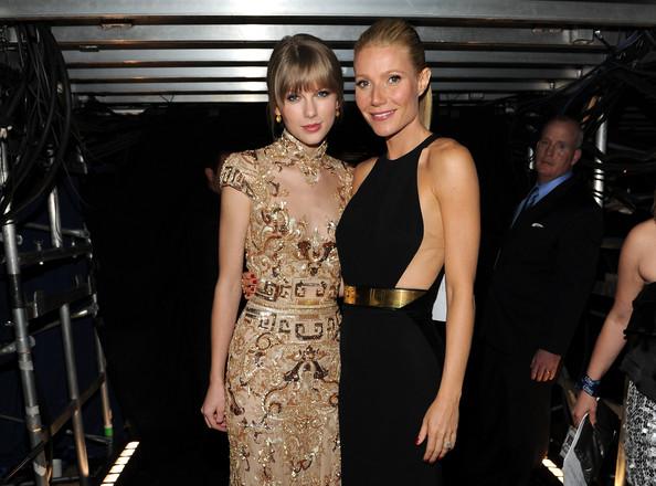 Gwyneth Paltrow in Stella McCartney and Taylor Swift in Zuhair Murad
