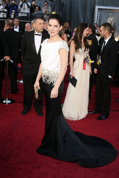 Sandra Bullock in Marchesa