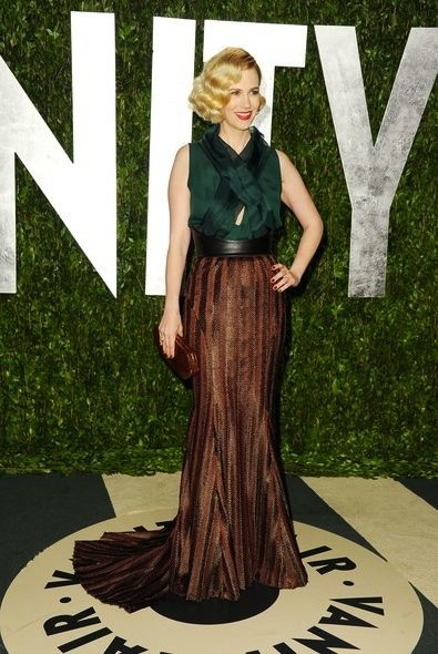 January Jones at the 2012 Vanity Fair Oscar Party