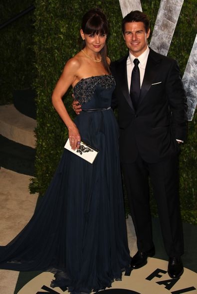 Katie Holmes and Tom Cruise at the 2012 Vanity Fair Oscar Party
