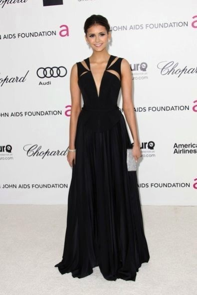 Nina Dobrev at the 20th Annual Elton John AIDS Foundation Academy Awards Viewing Party