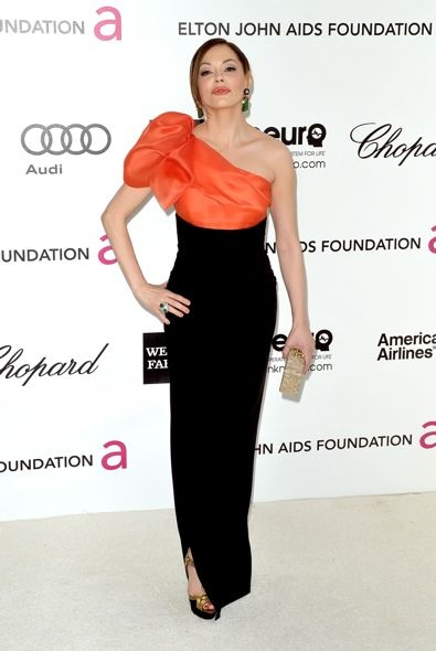 Rose McGowan at the 20th Annual Elton John AIDS Foundation Academy Awards Viewing Party
