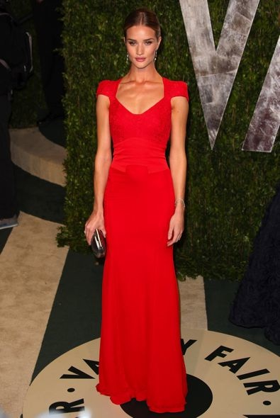 Rosie Huntington-Whiteley at the 2012 Vanity Fair Oscar Party