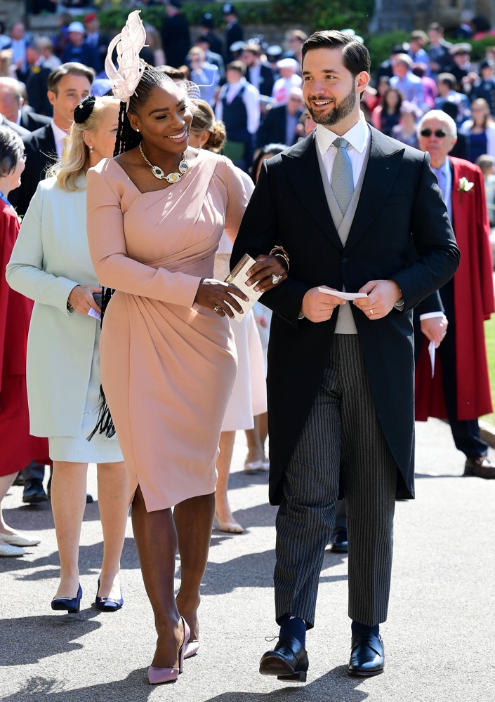 Serena Williams and Alexis Ohanian at the Ceremony