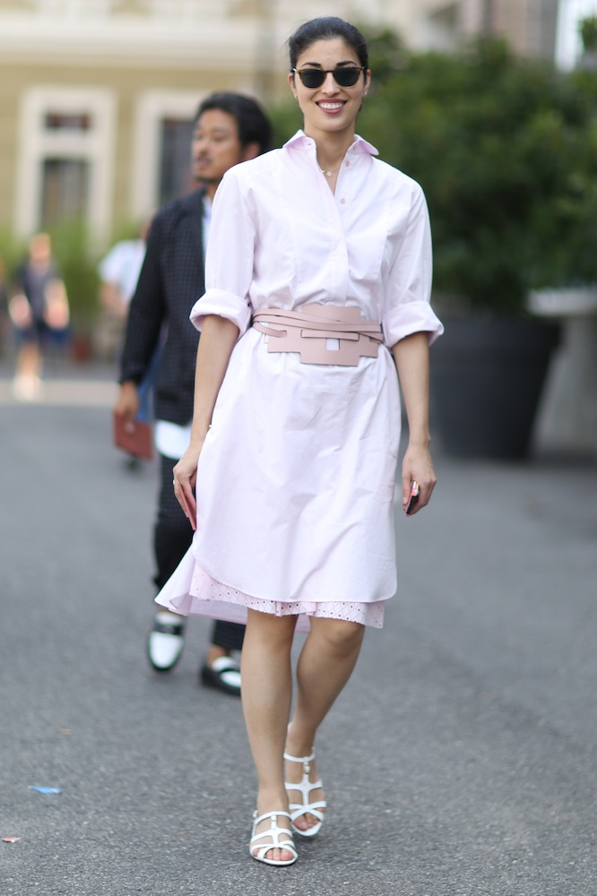 milano m str s15 184 Get Inspired: Wear Your Shirtdress Like a Street Style Star