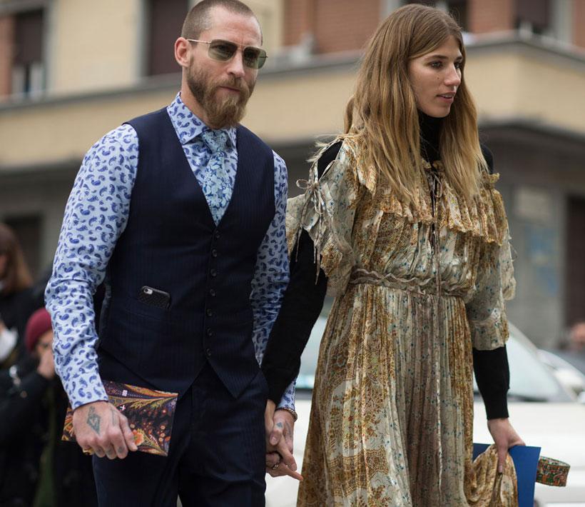 Justin O'Shea and Veronika Heilbrunner in Milan