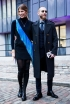 Veronika Heilbrunner and Justin O'Shea in London