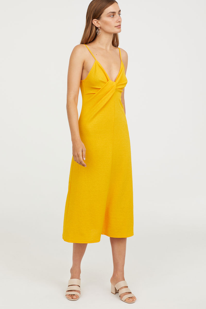 H&M  25 Statement-Making Spring Dresses Under $100 HM Tie Detail Dress