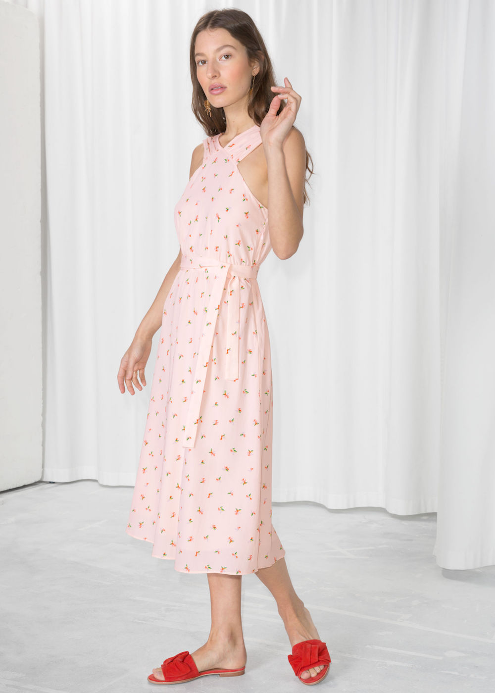 & Other Stories  25 Statement-Making Spring Dresses Under $100 Other Stories Cross Front Dress