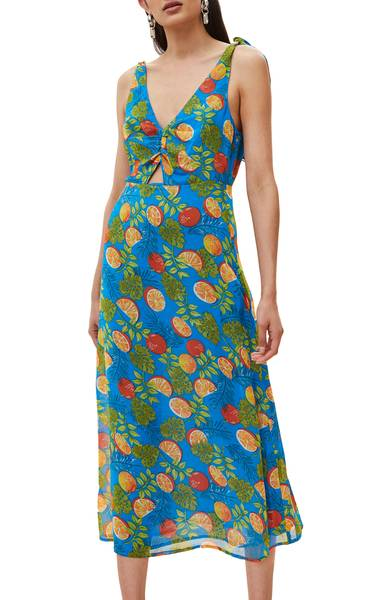 Topshop  25 Statement-Making Spring Dresses Under $100 Topshop Citrus Tie Shoulder Midi Sundress
