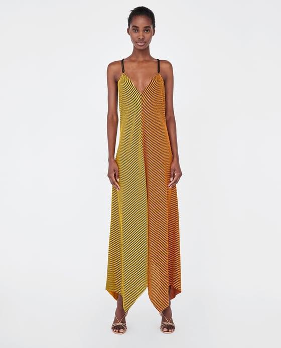 Zara  25 Statement-Making Spring Dresses Under $100 Zara Two Tone Striped Asymmetric Dress
