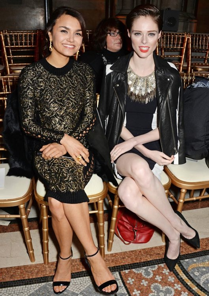 Samantha Barks and Coco Rocha
