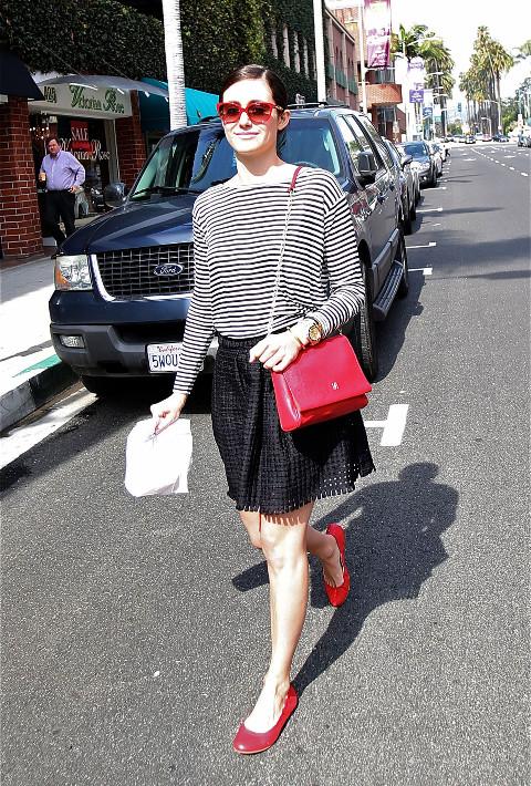 Emmy Rossum on the Street