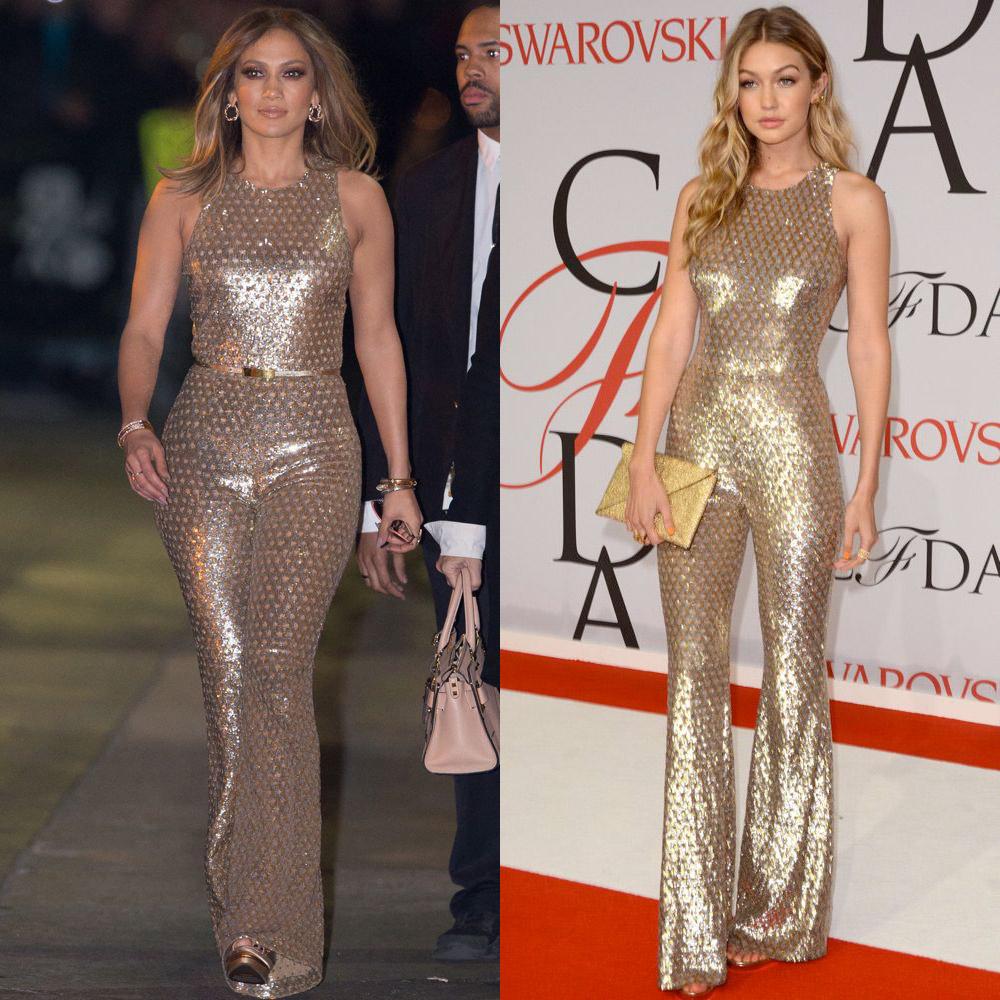 Jennifer Lopez and Gigi Hadid in Michael Kors