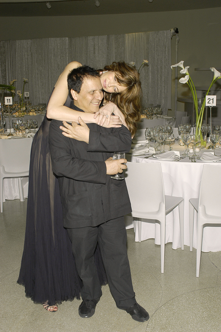 Stephanie Seymour and Azzedine Alaïa