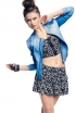 Studded Bomber, Tribal-Print Cropped Bustier, Printed Shorts