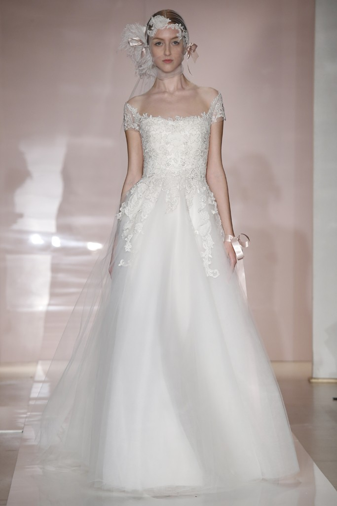 Marchesa Fall 2014 Wedding Dresses Reem Acra Fall