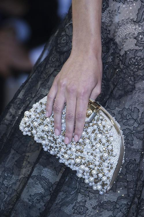 Armani Prive's Pearl Encrusted Clutch
