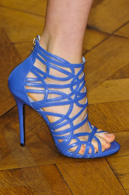 Zuhair Murad's Caged Blue Sandals