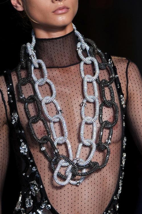 Atelier Versace's Interlocked Statement Necklaces