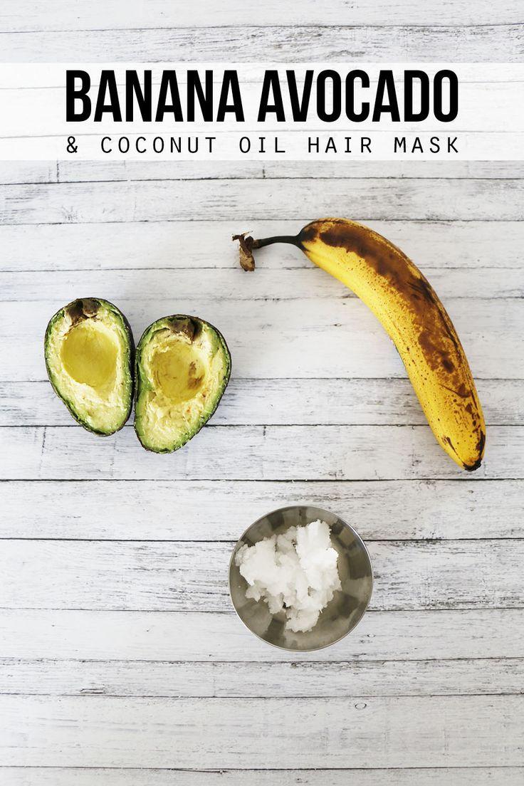 Banana, Avocado and Coconut Oil Hair Mask