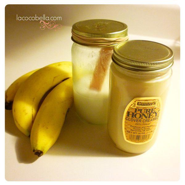 Banana, Honey, Coconut Oil Hair Mask
