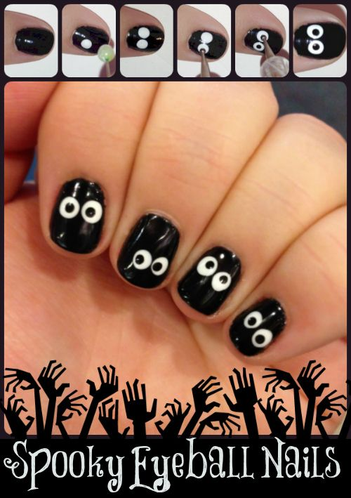 12 Best Halloween Nail Art Ideas On Pinterest Thefashionspot