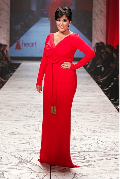 Kris Jenner in Badgley Mischka