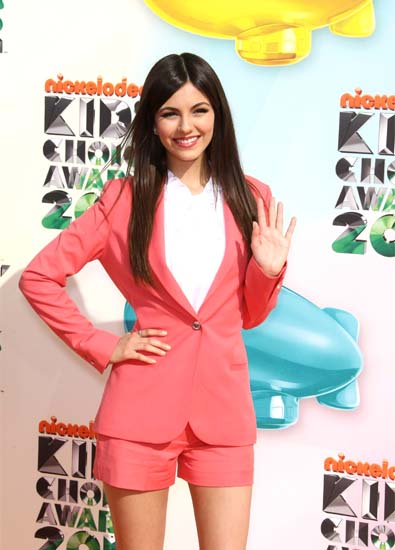 Victoria Justice's Colorful Shorts Suit 
