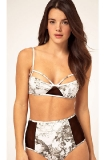 Amore & Sorvete Black+White Fantasy Print High Waisted Bikini Set