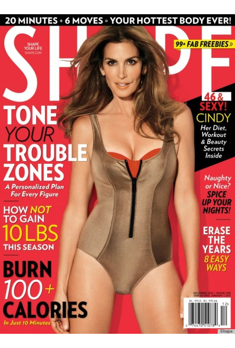 Cindy Crawford for Shape December 2012