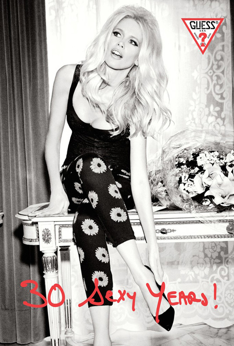 Claudia Schiffer for Guess Jeans in 2012