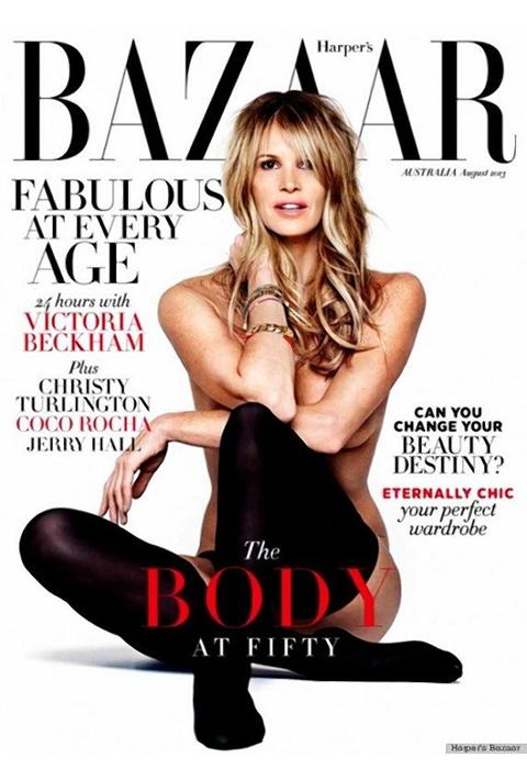 Elle Macpherson for Harper's Bazaar Australia August 2012