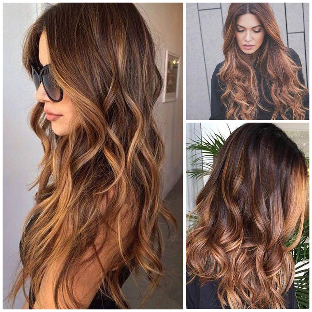 Innovative  Long Hair  Dark Red Violet Plum Ombre Balayage Winter Hair Colors