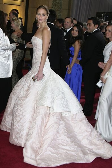 3. Jennifer Lawrence at the Oscars