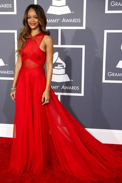 10. Rihanna at the Grammy Awards